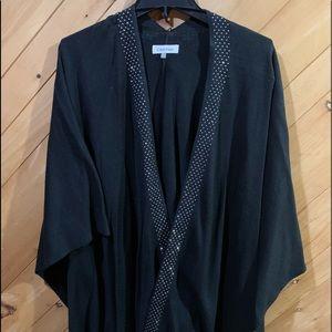 Calvin Klein black/silver shawl